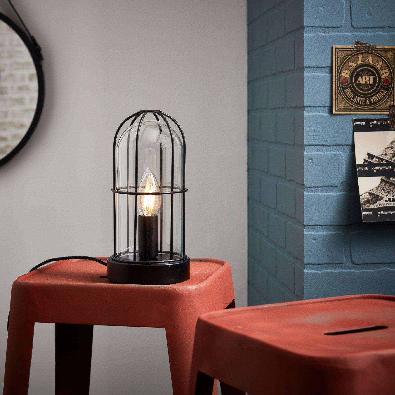 Lampe, e14 Storm BRILLIANT, verre noir, 40 W