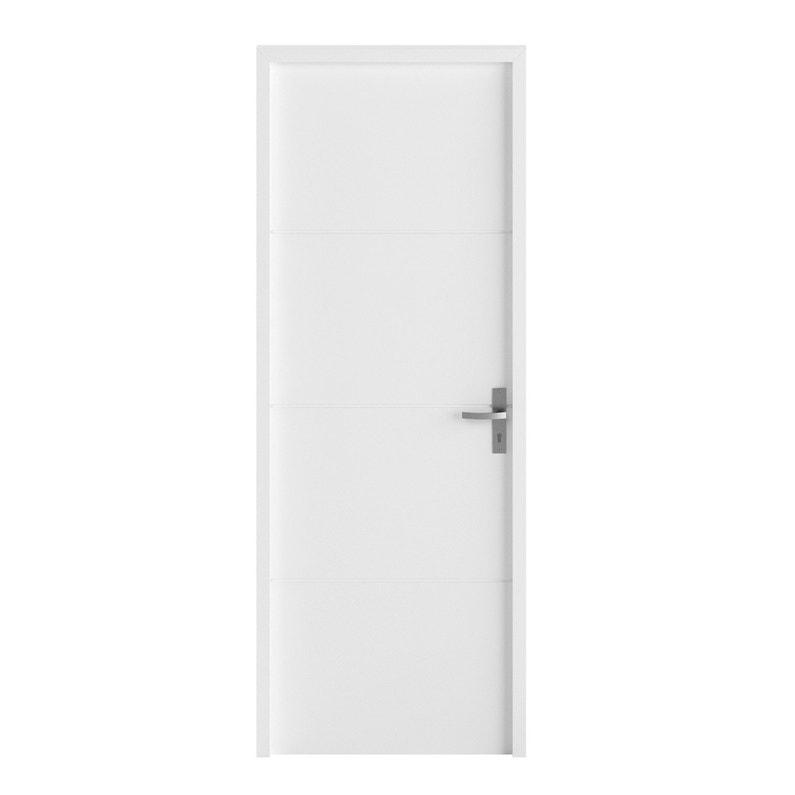 Bloc Porte Avec Bâti Ajustable Laquée Blanc Lali H204 X L73 Cm