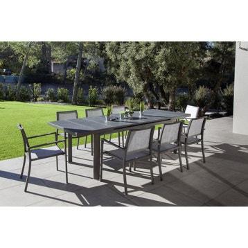 Table De Jardin Aluminium Bois Résine Au Meilleur Prix Leroy Merlin