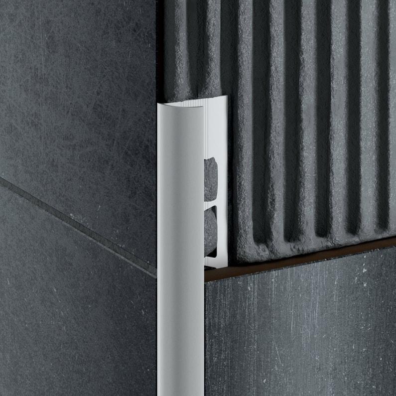 Quart De Rond Mur Et Sol Doré Mat Aluminium L250 Cm X Ep10 Mm