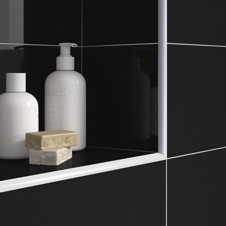 Quart De Rond Mur Et Sol Blanc Brillant Aluminium L250 Cm X Ep8 Mm