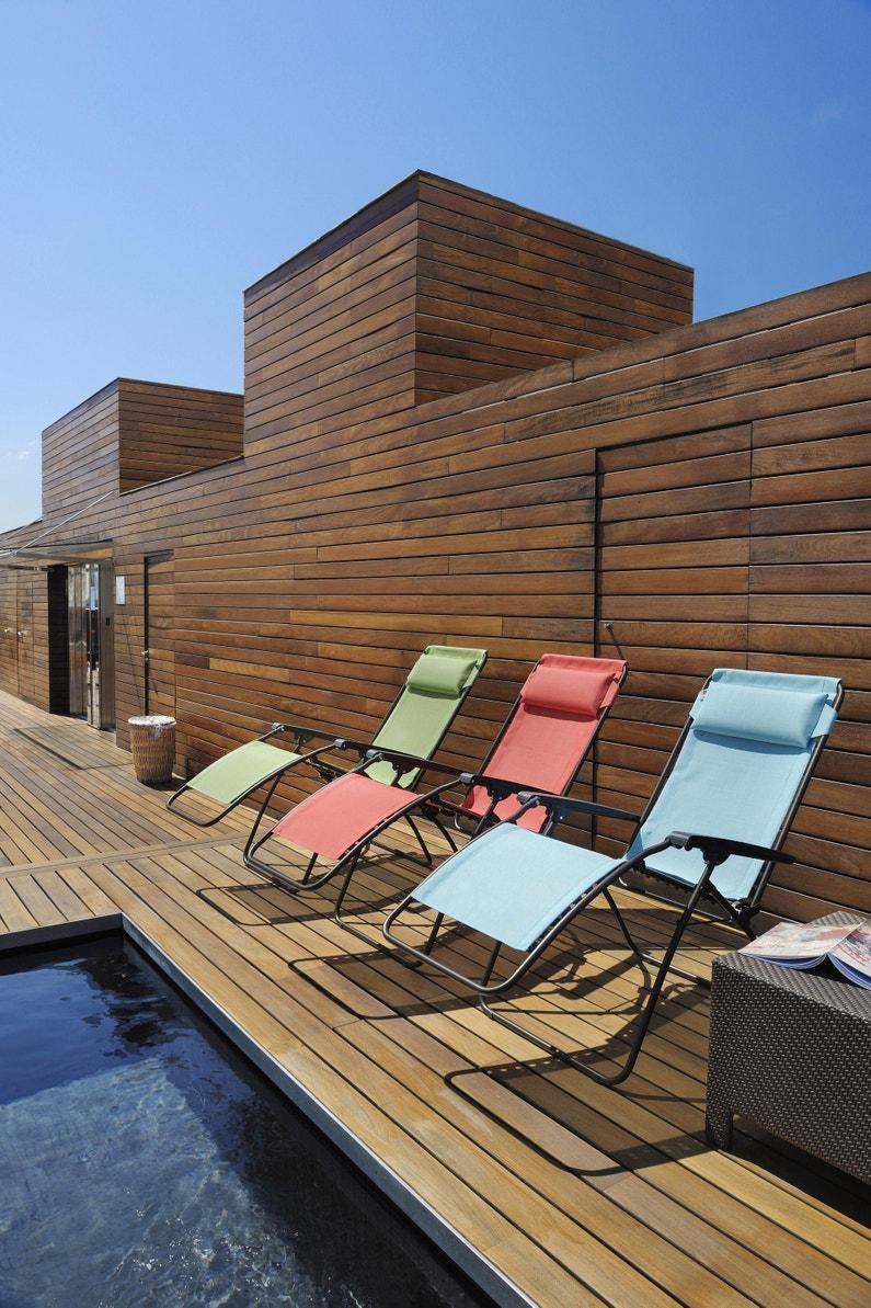 Relax De Jardin En Acier R Clip Bleu Arctic Leroy Merlin