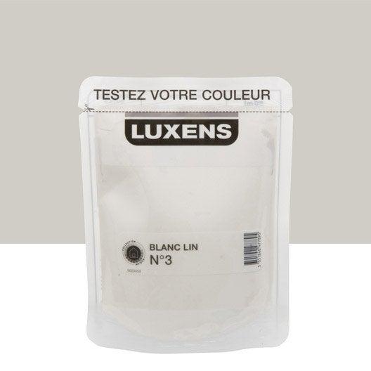 Testeur peinture blanc lin 3 luxens couleurs int rieures - Peinture couleur blanc lin ...