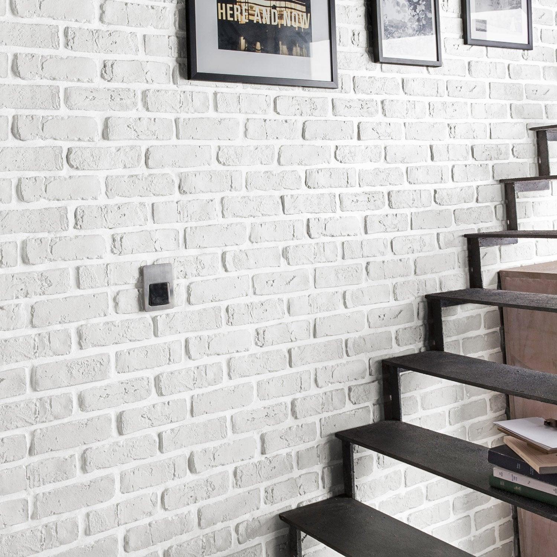 Plaquette de parement plâtre blanc Chelsea