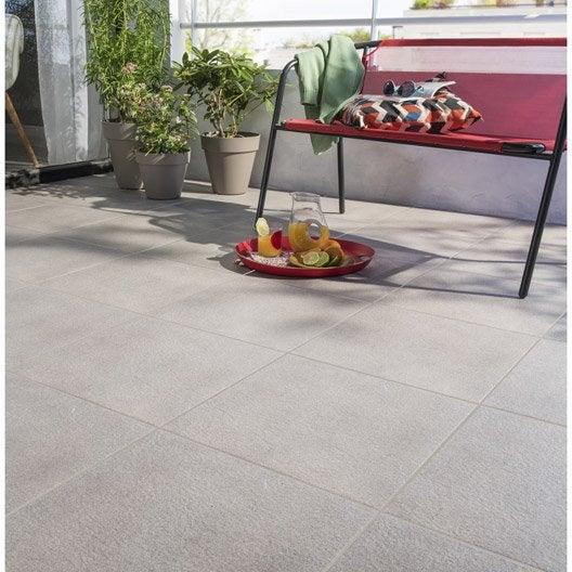 carrelage sol gris clair effet pierre silex x cm leroy merlin. Black Bedroom Furniture Sets. Home Design Ideas