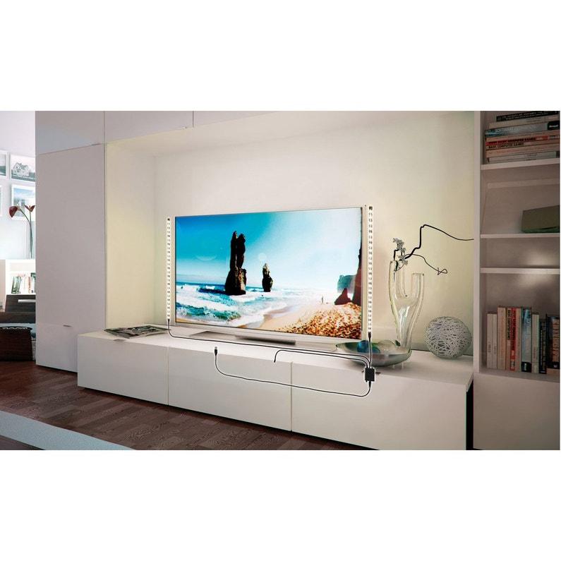 Ruban Led Tv 2 X 05m Blanc Chaud 3000k Paulmann
