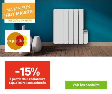 OP - 15% de remise à partir de 3 radiateurs EQUATION Esus