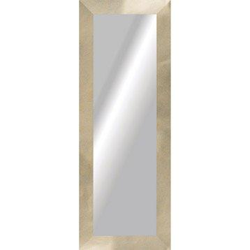 Miroir loft doré, l.40 x H.140 cm