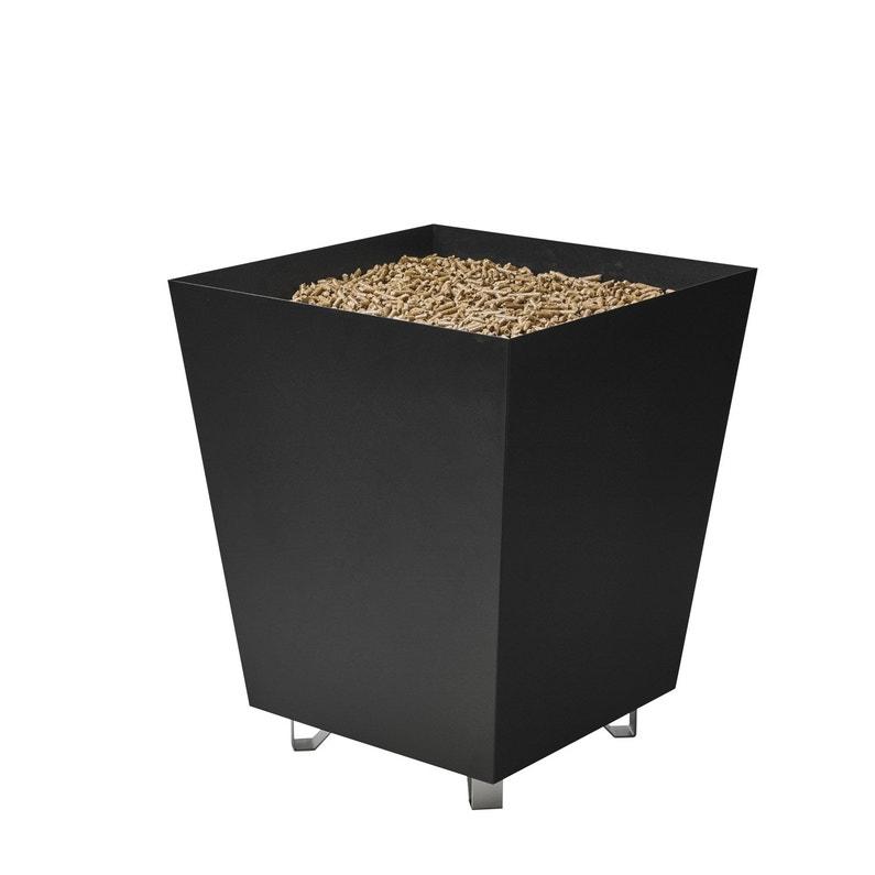 Panier à Bûches Noir Dixneuf Big Box L40 X H48 Cm