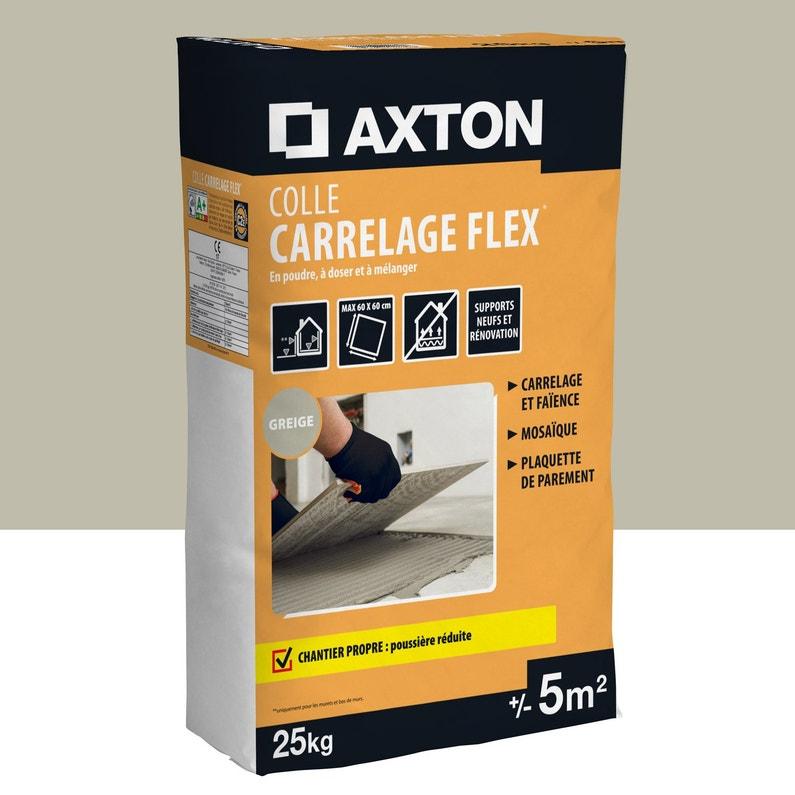 Mortier Colle Poudre Axton Flex Beige 25 Kg 5 M²