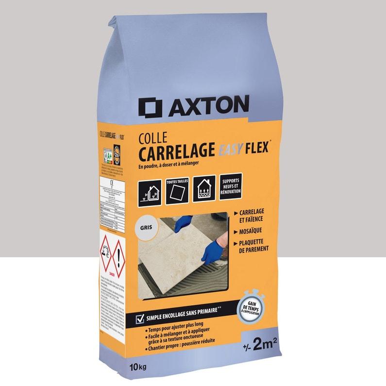 Mortier Colle Poudre Axton Easy Flex Gris 10 Kg 2 M²