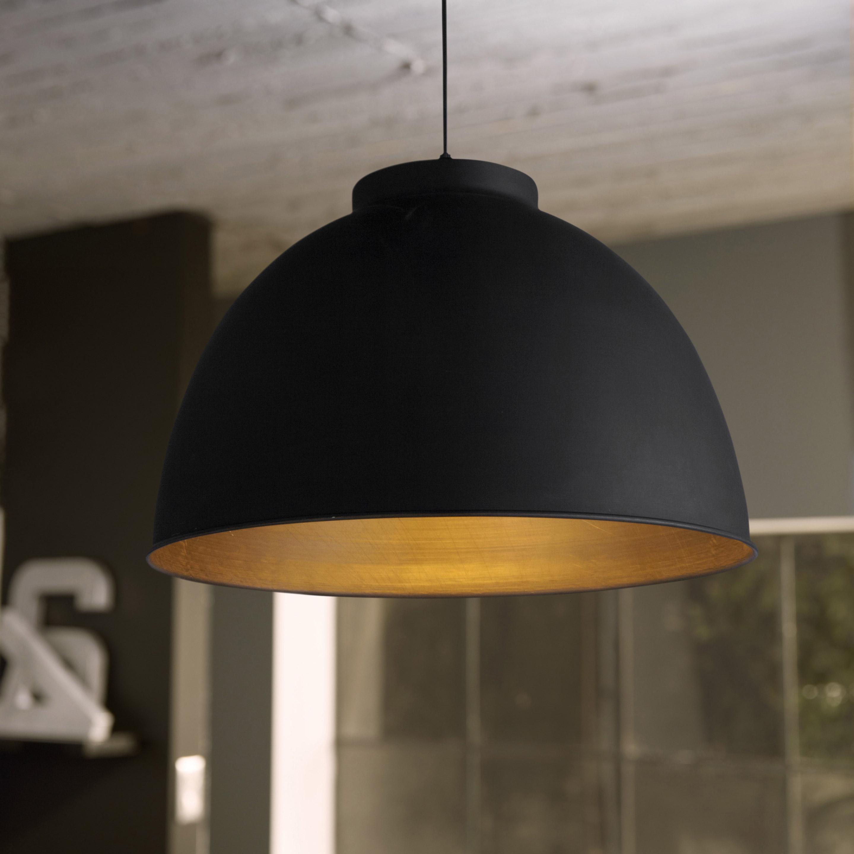 Suspension, industriel métal noir COREP Dock 1 lumière(s) D.45 cm