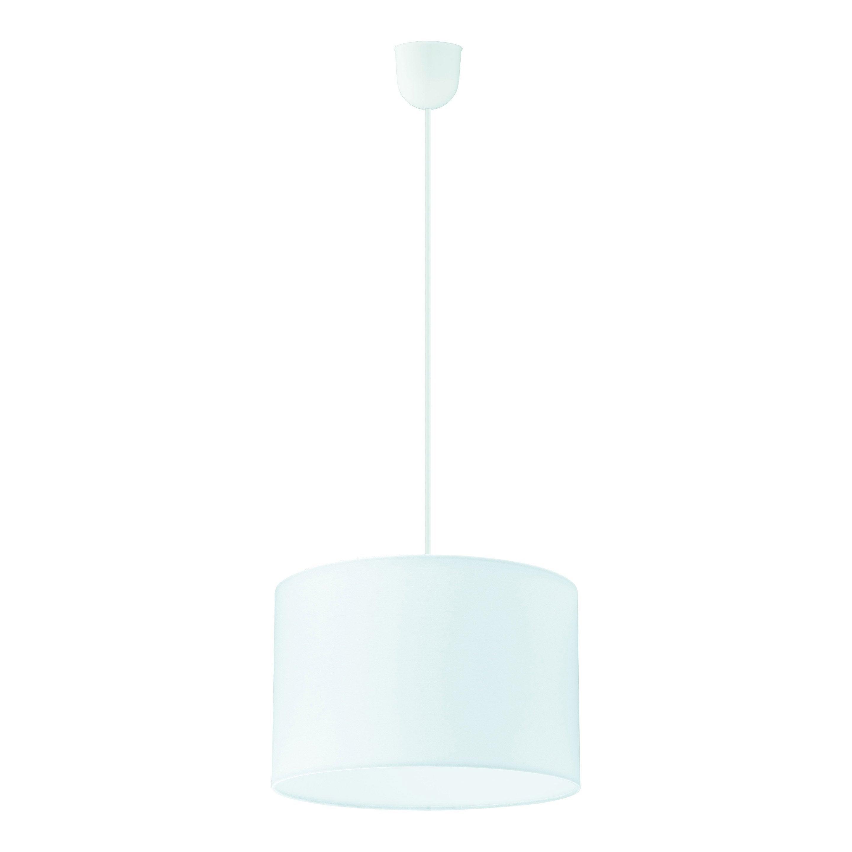 Suspension, classique tissu blanc INSPIRE Sitia 1 lumière(s) D.29 cm