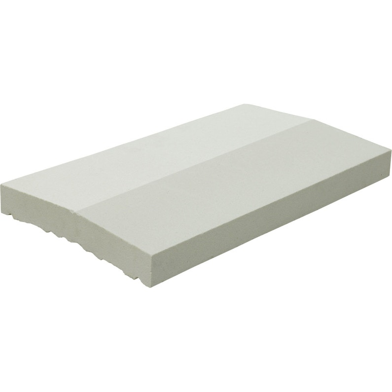 Couvre Mur 2 Pans Partie Plate A Emboitement Lisse Blanc H4 X L23 X P50 Cm