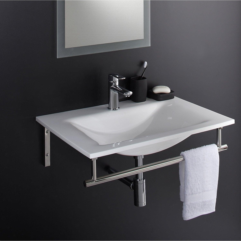 plan vasque artus blanc verre 70 cm leroy merlin. Black Bedroom Furniture Sets. Home Design Ideas