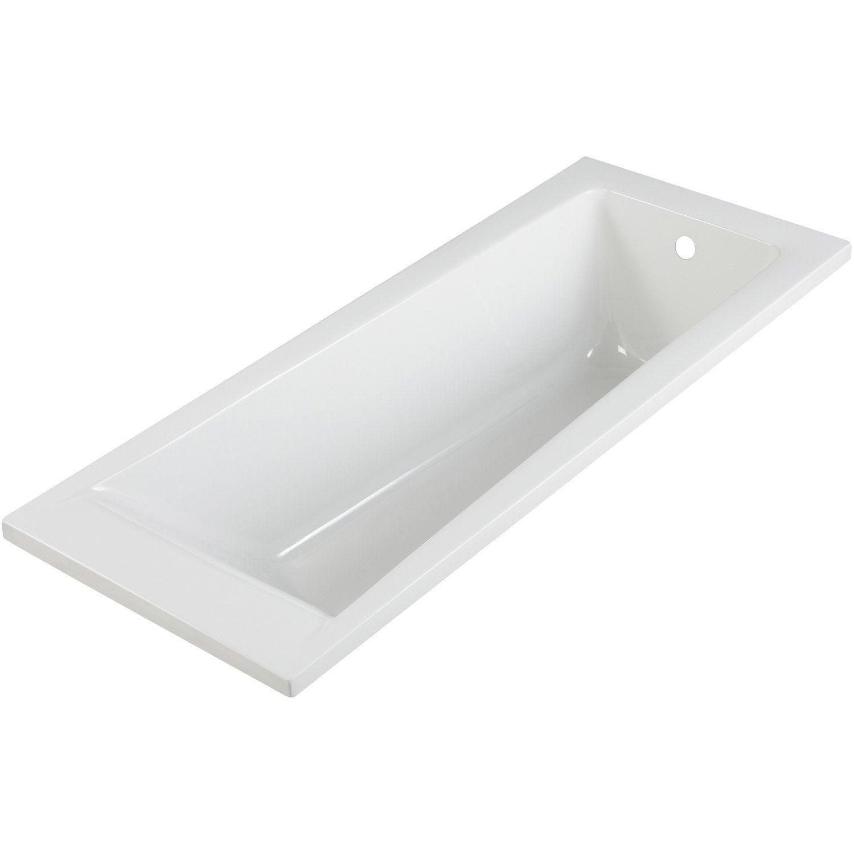 Baignoire rectangulaire cm blanc sensea access design leroy merlin - Baignoire acrylique leroy merlin ...
