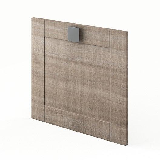 Porte de cuisine d cor ch ne blanchi f60 54 karrey l60 x for Porte cuisine chene
