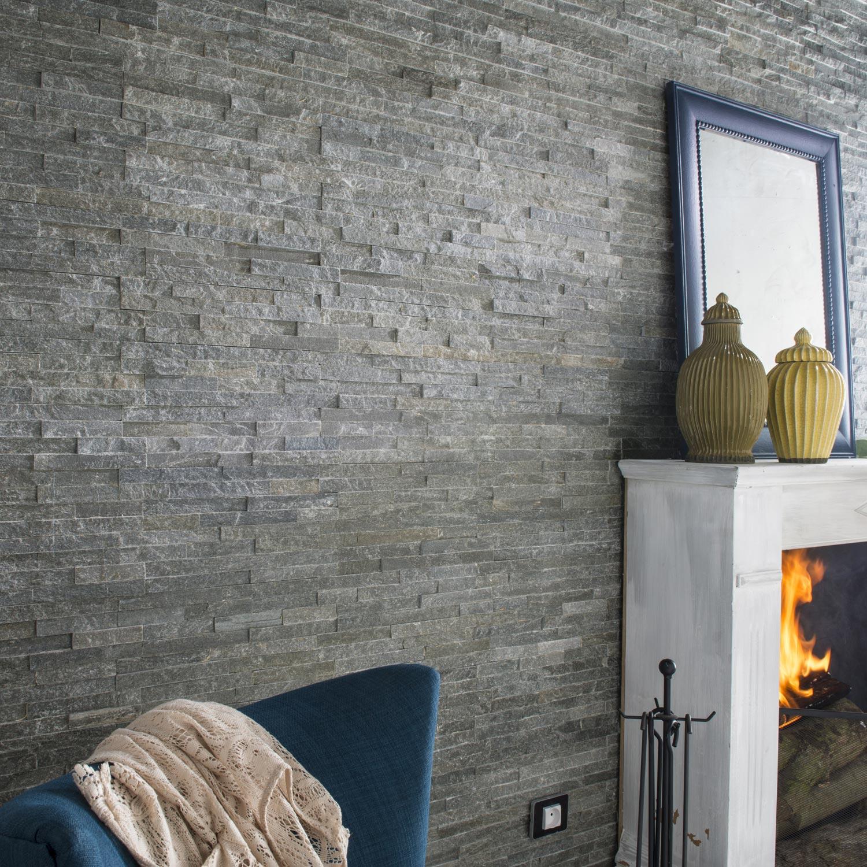 plaquette de parement pierre naturelle gris magrit leroy. Black Bedroom Furniture Sets. Home Design Ideas