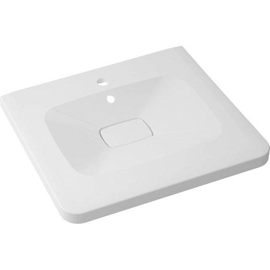 plan vasque simple shine marbre de synth se 60 cm leroy merlin. Black Bedroom Furniture Sets. Home Design Ideas