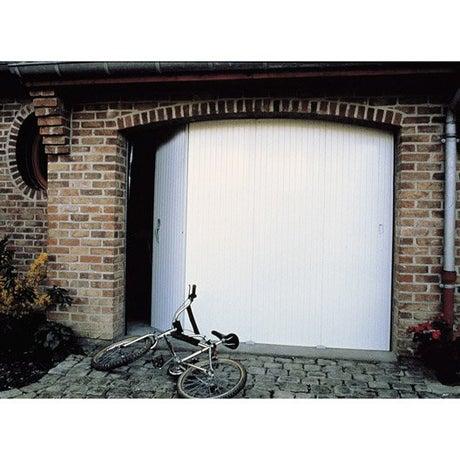 Porte de garage coulissante ouverture lat rale porte de for Porte de garage dimensions tableau