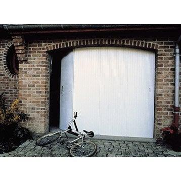 Porte de garage coulissante manuelle PRIMO H.200 x l.240 cm