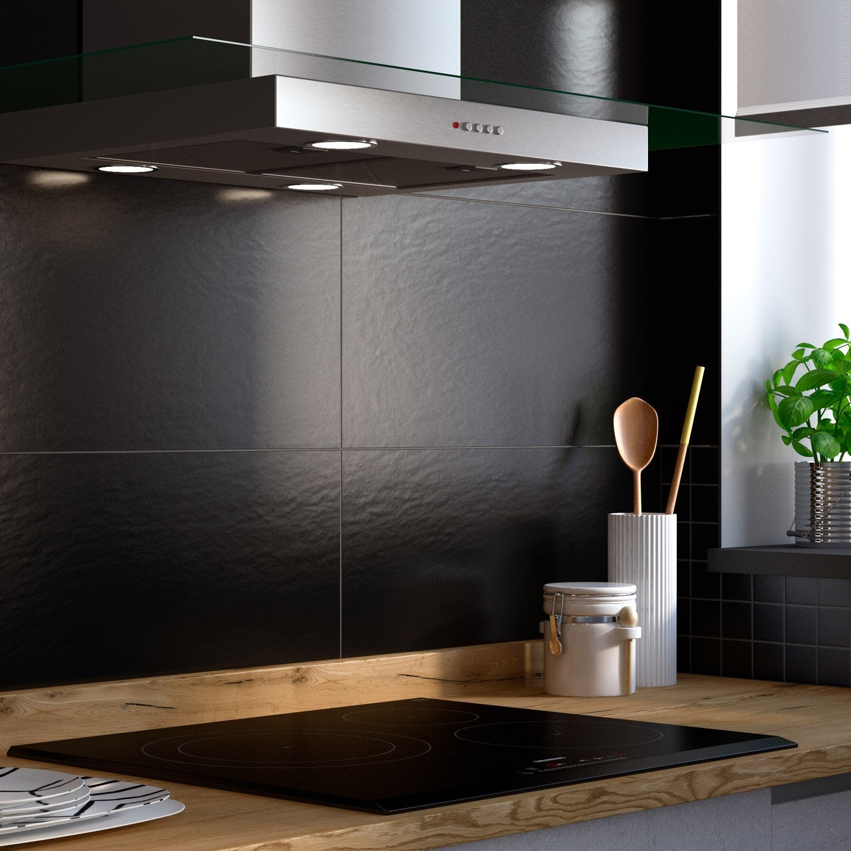 fa ence mur noir slate x cm leroy merlin. Black Bedroom Furniture Sets. Home Design Ideas