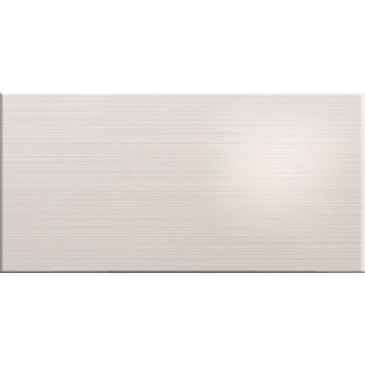Fa ence mur blanc beauty x cm leroy merlin for Faience mur blanc
