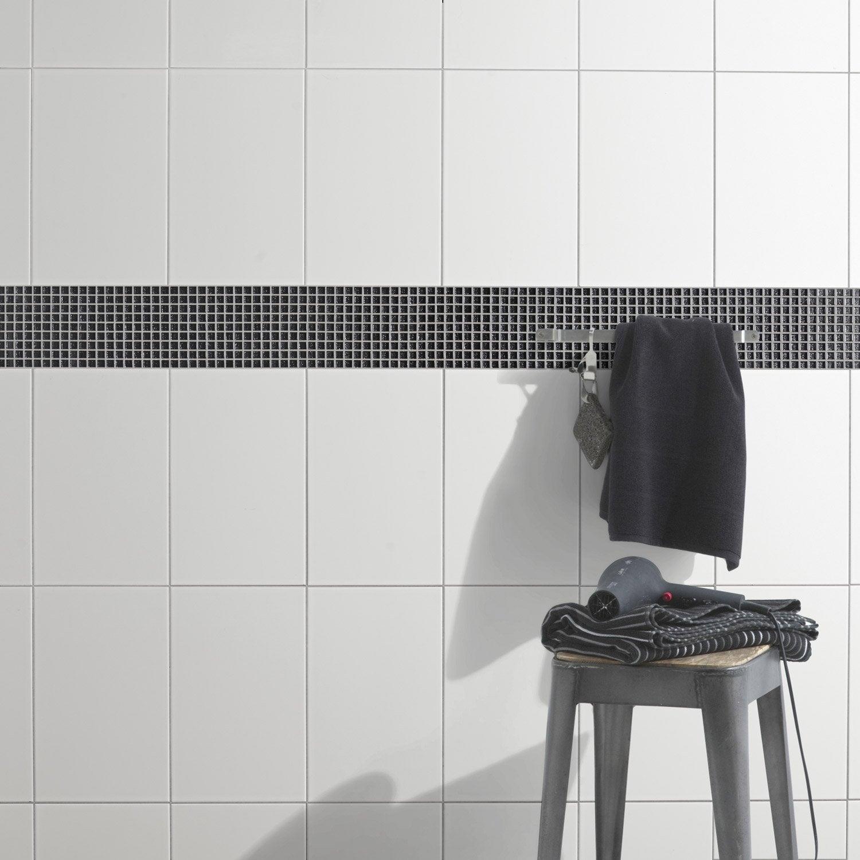 Faïence mur blanc brillante l.25 x L.40 cm, Blanc