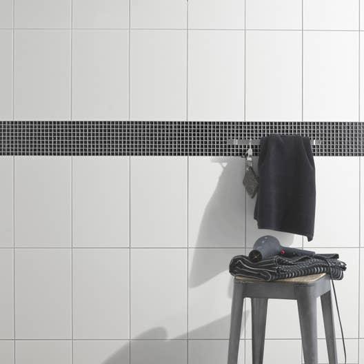 Faïence mur blanc, Blanc brillant l.25 x L.40 cm | Leroy Merlin
