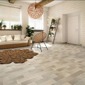 Sol PVC gris celine carrelage gris, ARTENS Textile l.4 m