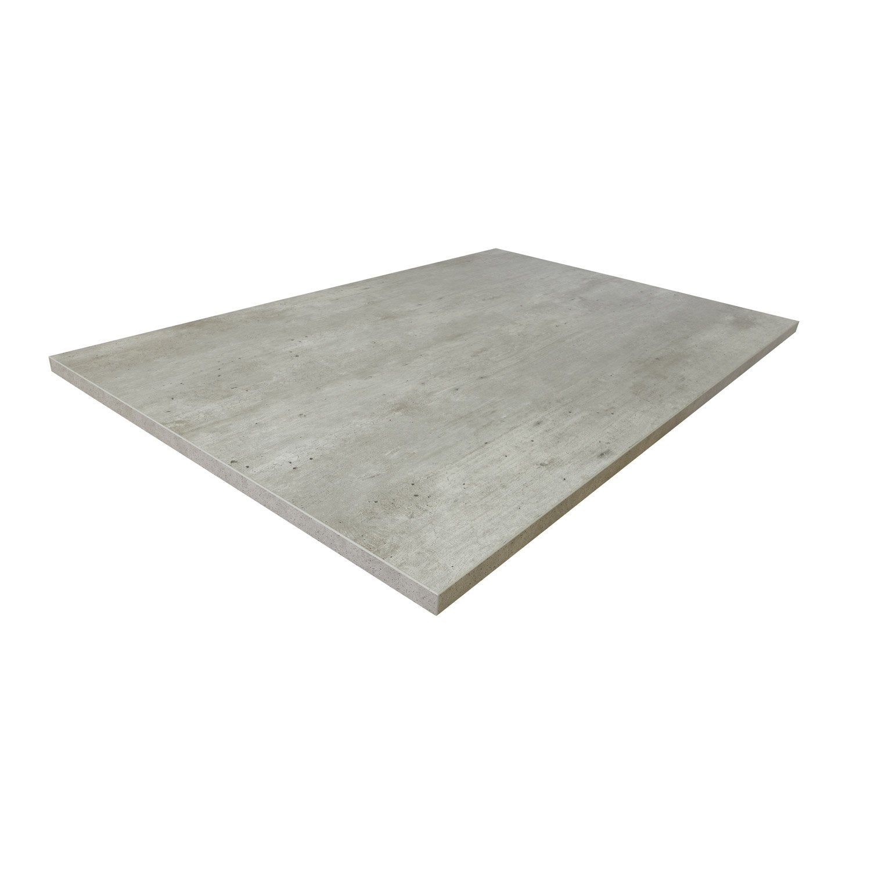 Plateau de table aggloméré béton, L.70 x l.120 cm x Ep.18 mm
