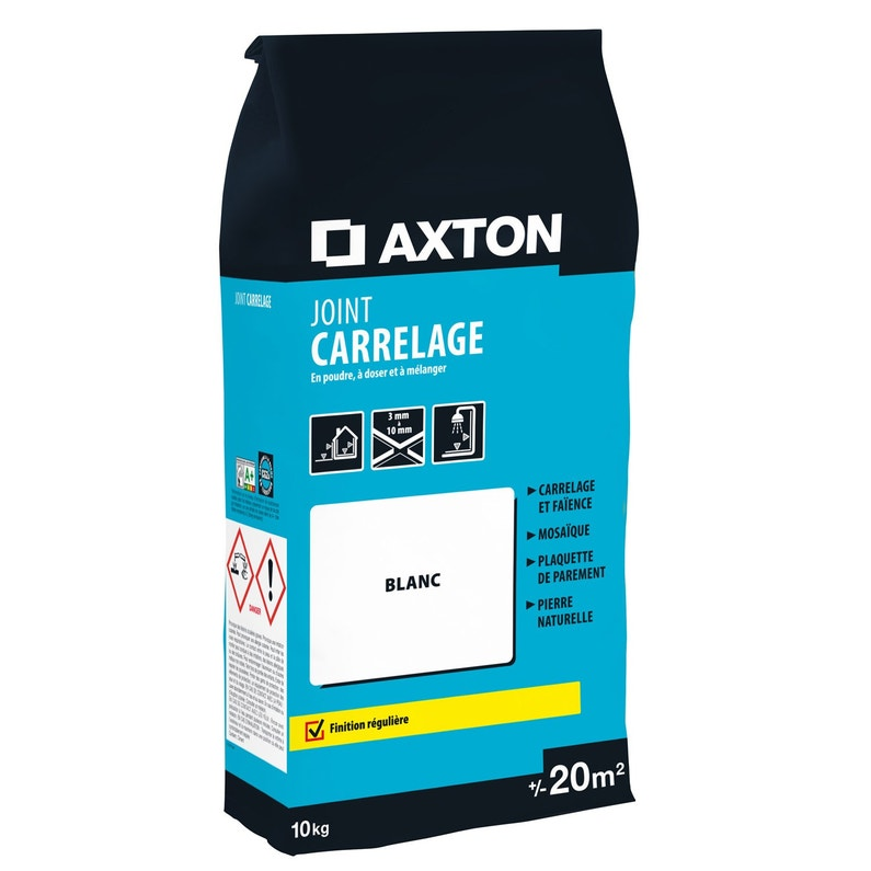 Joint Poudre Axton Blanc 10 Kg 20 M²