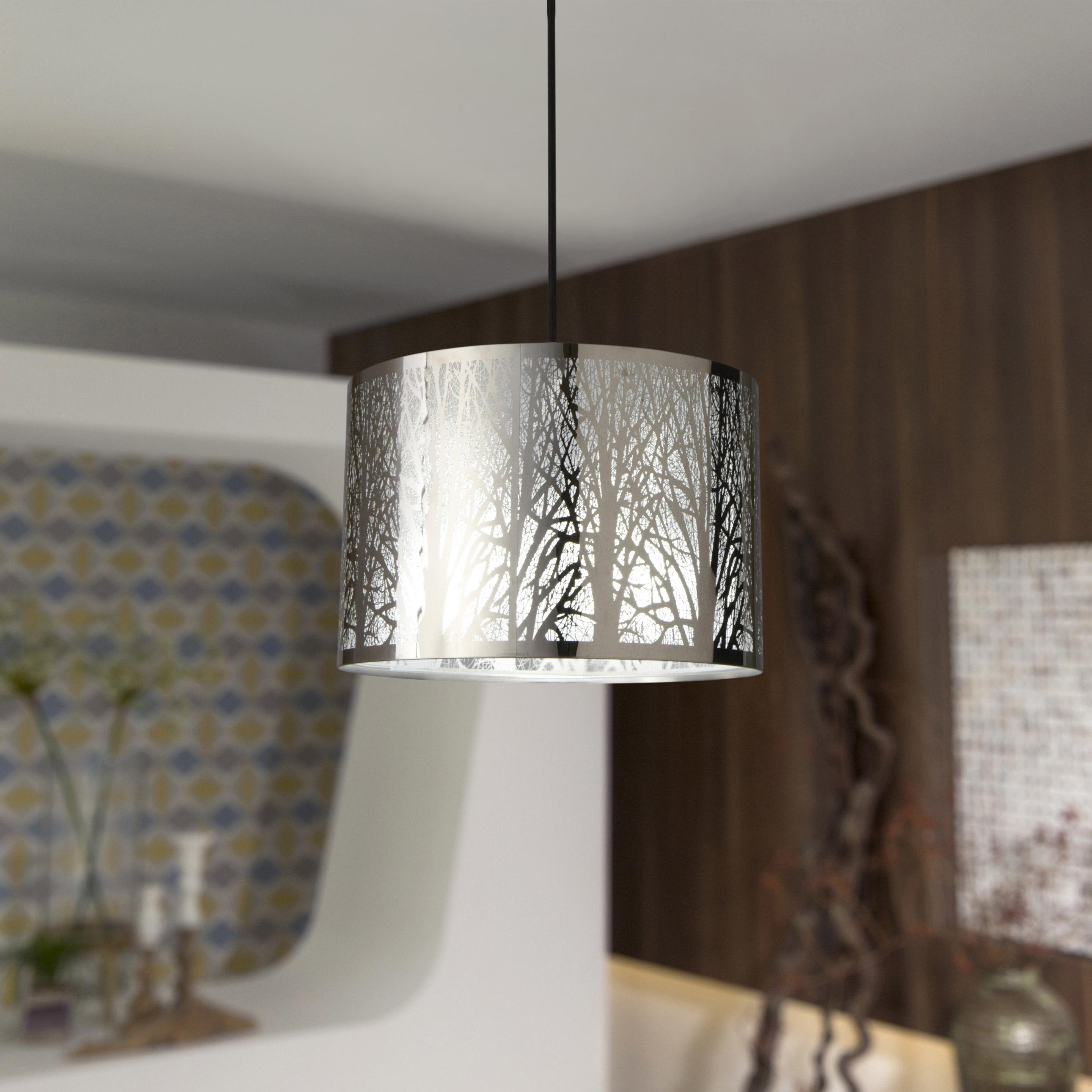 Suspension, moderne métal noir INSPIRE Forest 1 lumière(s) D.30 cm