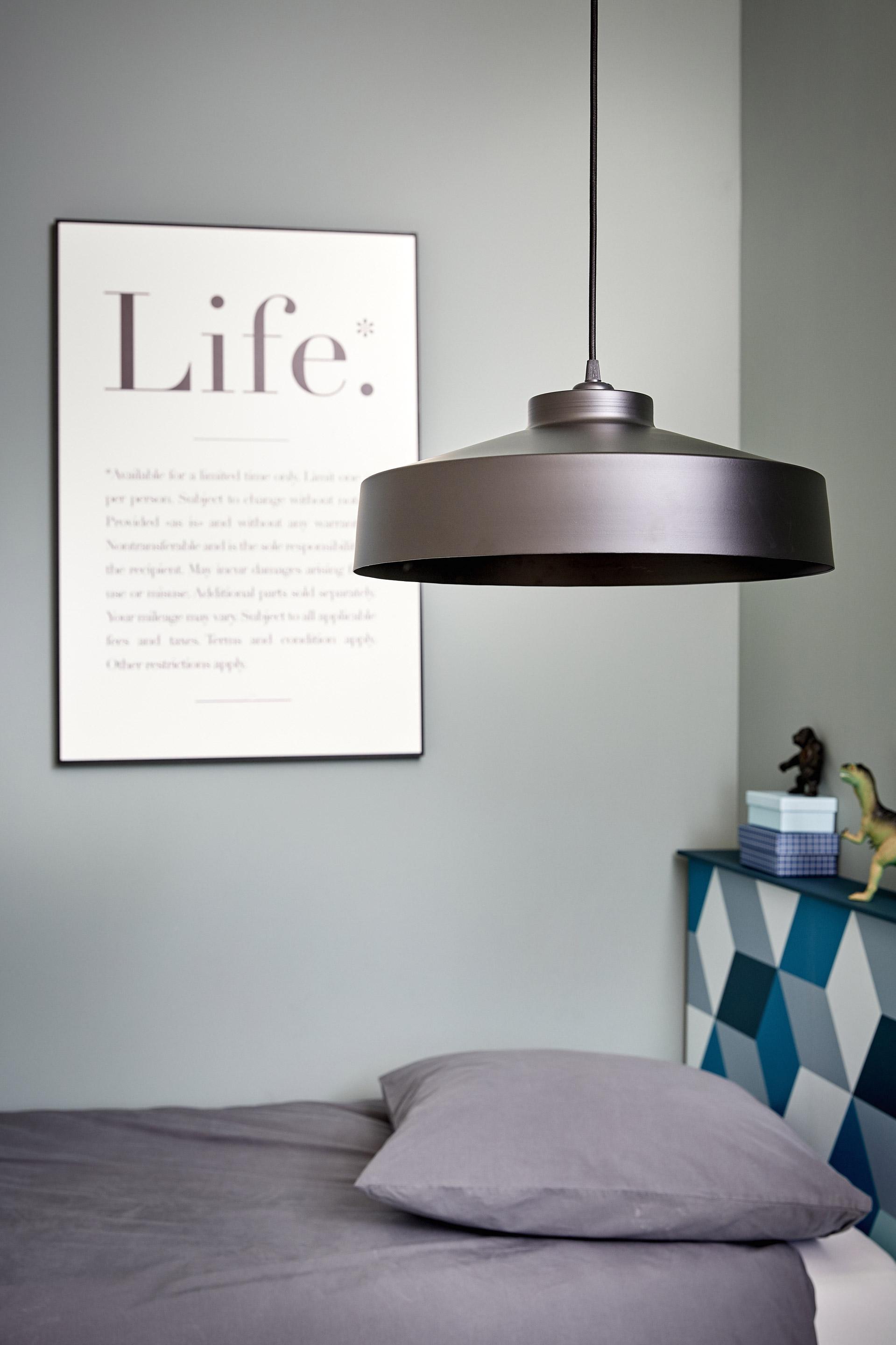 Lustre, design métal noir COREP Archi 1 lumière(s) D.41 cm