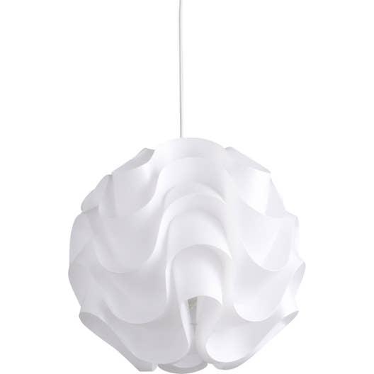 Suspension, e27 design Sky plastique blanc 1 x 60 W INSPIRE | Leroy ...