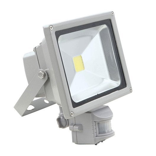projecteur à fixer à détection extérieur faedo led intégrée gris