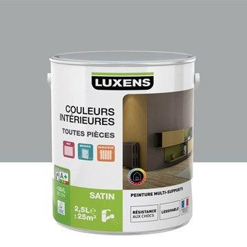 Peinture gris galet 4 LUXENS Couleurs intérieures satin 2.5 l
