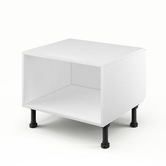 caisson de cuisine bas dsh60 delinia blanc x x cm leroy merlin. Black Bedroom Furniture Sets. Home Design Ideas