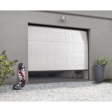 Porte de garage sectionnelle motorisée ARTENS essentiel H.200 x l.240 cm