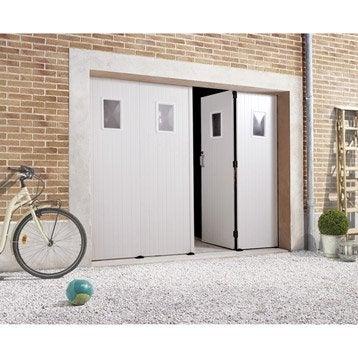 Porte De Garage Au Meilleur Prix Leroy Merlin - Porte de garage sectionnelle avec porte de garage 4 vantaux pvc