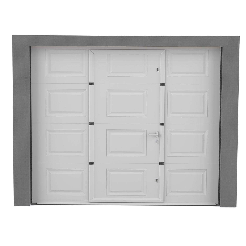 Porte de garage sectionnelle motoris e artens essentiel h for Porte de garage 200 300