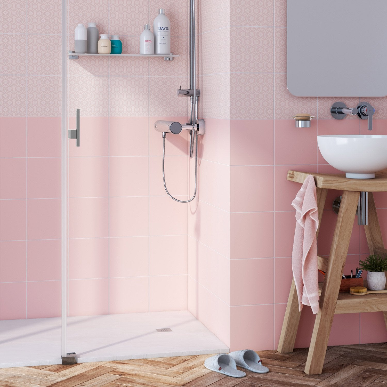 Faïence mur rose bistro n°6 mat l.19.7 x L.19.7 cm, Astuce