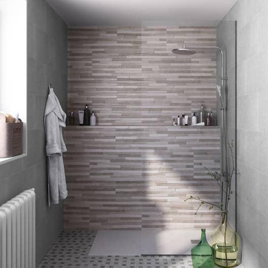 Faïence mur gris, Pierre l.60 x L.30 cm | Leroy Merlin