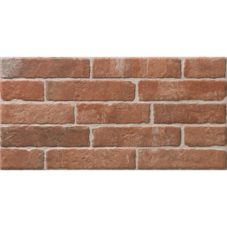 Faience Mur Rouge Brick L 25 X L 50 Cm Leroy Merlin