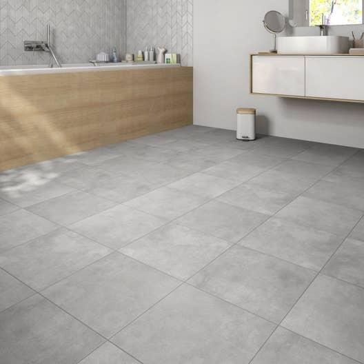 carrelage sol et mur gris moyen effet b ton shade x cm leroy merlin