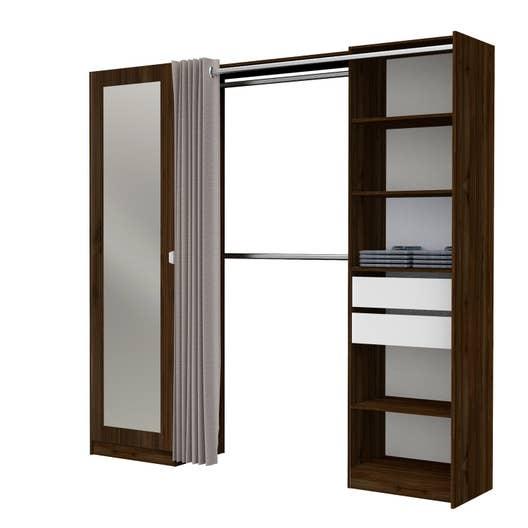 kit dressing effet noyer dresscode x x cm. Black Bedroom Furniture Sets. Home Design Ideas