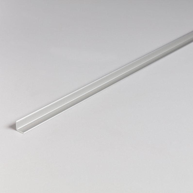 Profilé Angle Intérieur Aluminium Anodisé Argent L26 M X L12 Cm