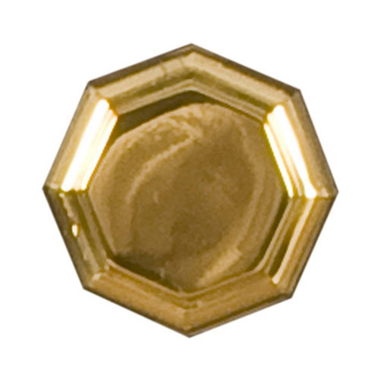 bouton de meuble octogonal, laiton brillant | leroy merlin