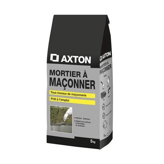 Mortier à maçonner poudre AXTON, 5 kg