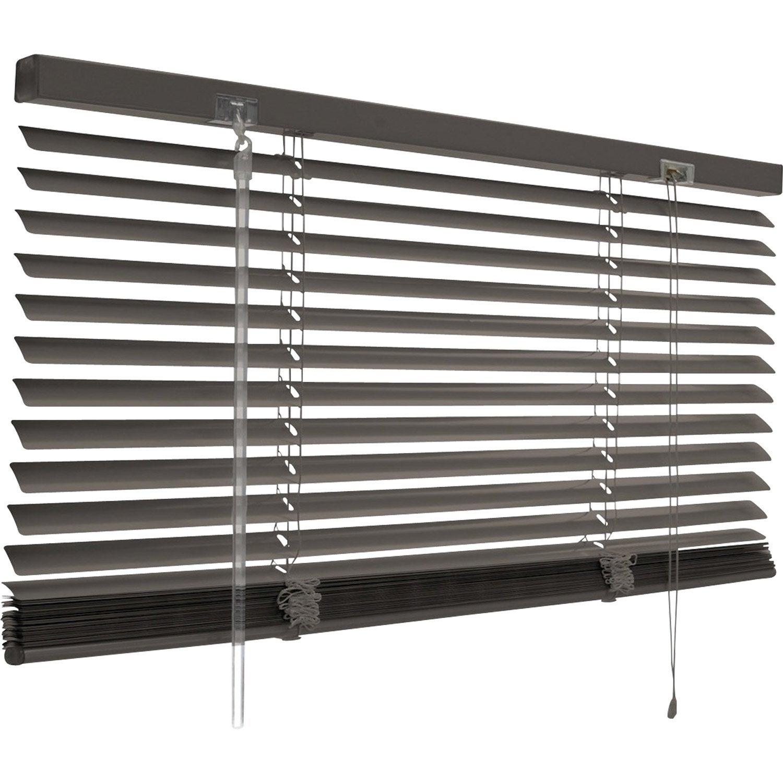 Store Vénitien Aluminium, Gris Gris N°1, L.50 X H.